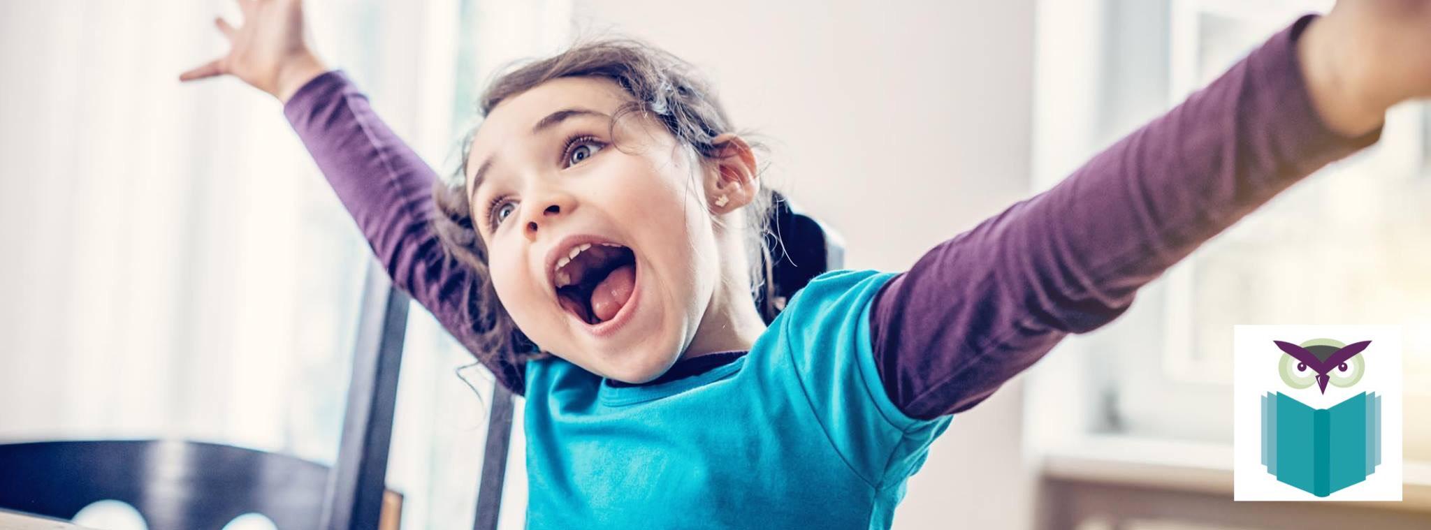 special needs girl happy in school