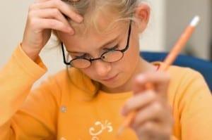 Girl glasses test